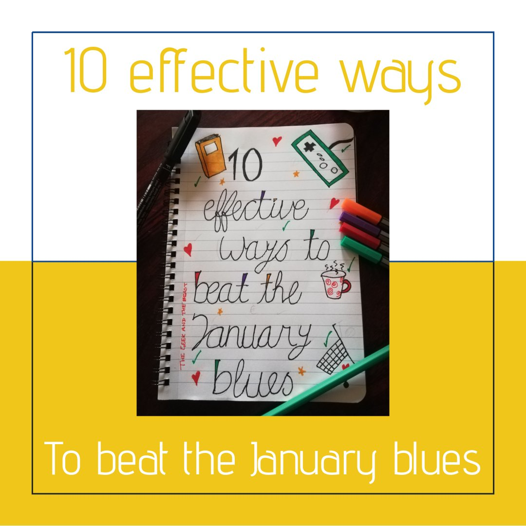 How to beat the January blues write on a notepad