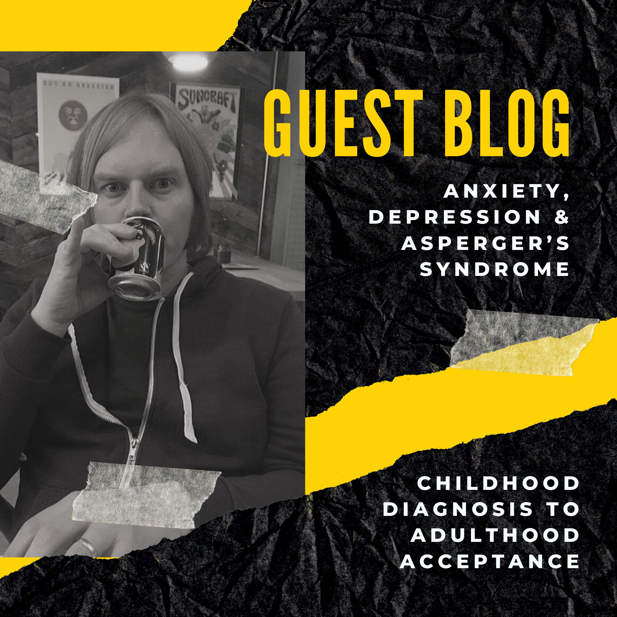 Image of Barry, the guest blogger who talks talks about his axiety, depression and Asperger's diagnosis