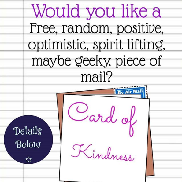 Image promoting the cards I wanted to send out as an act of kindness