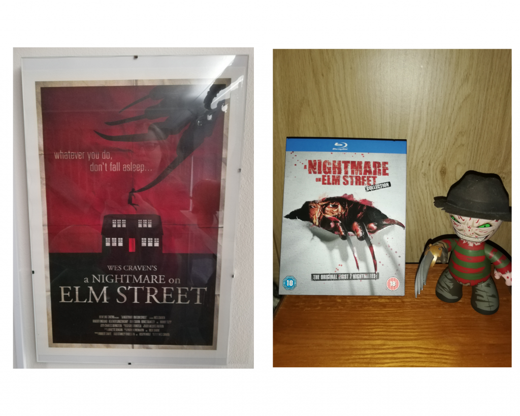 A nightmare on Elm Street picture and Blu Ray