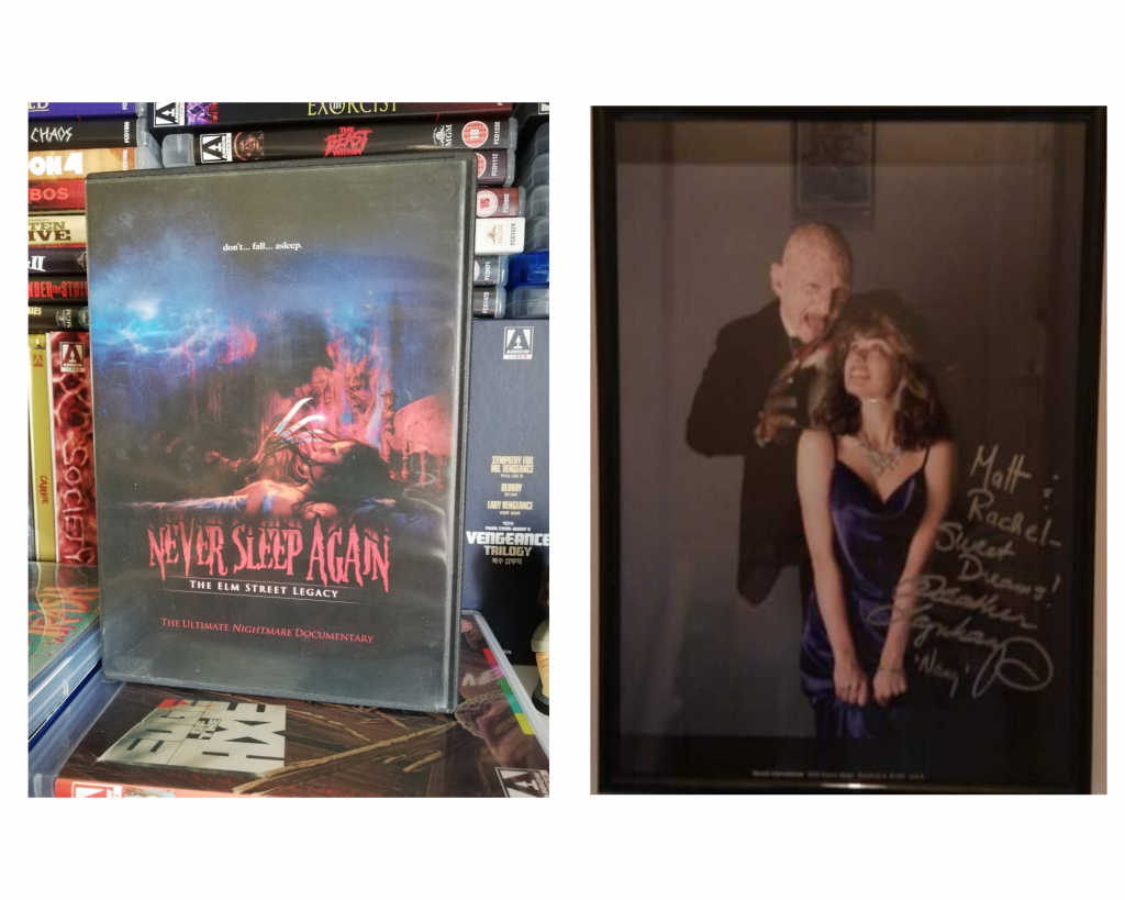 Never sleep again DVD & a Heather Langenkamp signed Nightmare on Elm Street picture