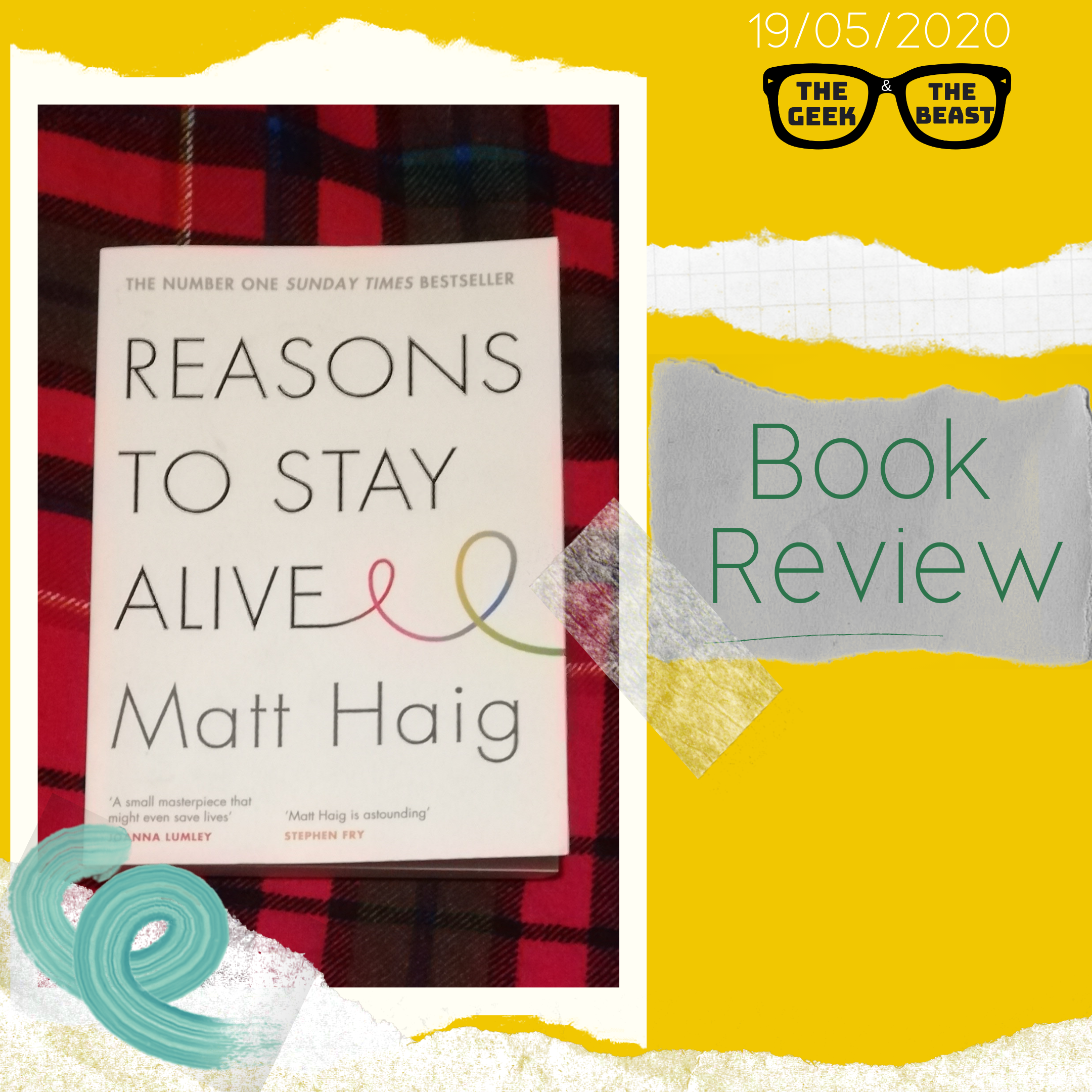 Reasons to stay alive image of book